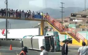 Accidente vehicular en Ancón deja al menos 6 heridos, entre ellos una escolar
