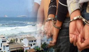PNP captura a los integrantes de la banda ''Los Pulpos de la Costa Verde''