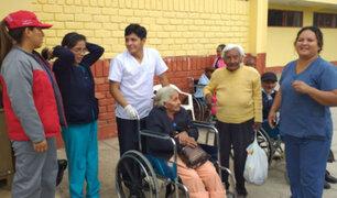 Trasladaron a anciana a un albergue tras ser rescatada por la Policía