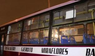 Chorrillos: policía resultó herido tras intentar frustrar asalto a bus