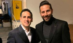 Claudio Pizarro y Juan Diego Flórez comparten fotos de su encuentro en Alemania