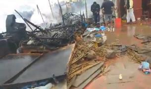 Tragedia en Huacho: explosión de balón de gas deja 4 viviendas destruidas