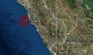Sismo de magnitud 3.7 se registró esta tarde en el Callao