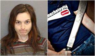 Mujer con machete en mano abusa sexualmente de su exnovio