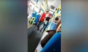 """Ataque machista en bus de Madrid: """"No te pego porque eres mujer"""""""