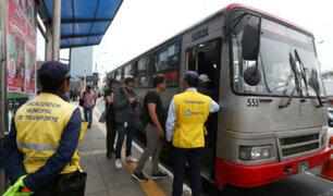 Incrementará fiscalización en corredores viales para evitar transporte informal