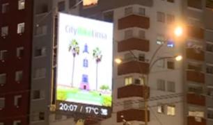 Miraflores: ordenan apagar paneles publicitarios a partir de las 11 p.m.