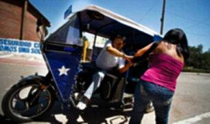 SMP: alerta por incremento de robos al paso empleando mototaxis