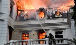 Chile: manifestantes incendian universidad privada en nueva jornada de protestas