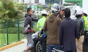 Surquillo: retiraron a 30 motociclistas que ofrecían servicio ilegal de colectivo