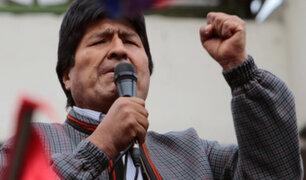 """Morales: """"Mesa y Camacho pasarán a la historia como racistas y golpistas"""""""