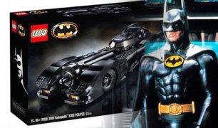 """Lego celebra 30 años de """"Batman"""" de Tim Burton con un flamante vehículo"""