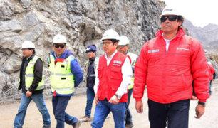 Ministro de Transportes supervisó avances de vía Oyón-Ambo, ruta alterna a Carretera Central