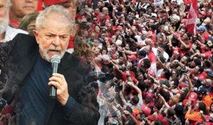 Lula ataca a Bolsonaro durante mitin un día después de salir de prisión