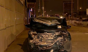 Los Olivos: conductor presuntamente ebrio ocasiona choque y deja dos heridos