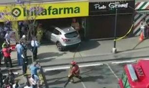 Surco: camioneta se despistó y terminó dentro de botica