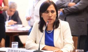 """Flor Pablo sobre paro del Sutep: """"Tenemos la mesa de diálogo abierta"""""""
