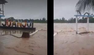 San Martín: se desborda río Huallaga y hay al menos 40 familias afectadas