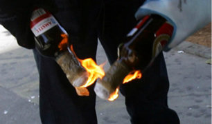 San Miguel: sujetos rompen luna de auto y lanzan bomba molotov