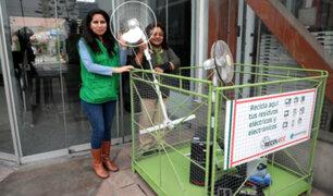 Los Olivos: instalan contenedores para desechar electrodomésticos malogrados