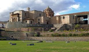 Cusco: explanada del Coricancha fue tomada durante protesta de trabajadores públicos
