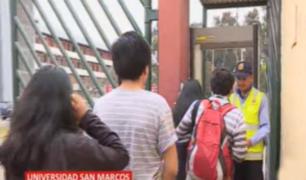 UNMSM: instalan arcos detectores de metales en ingresos a campus