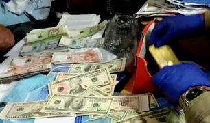 Desarticulan red de falsificación de billetes nacionales y extranjeros