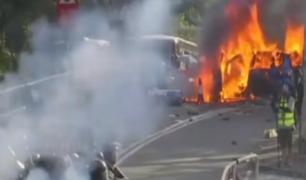 Hong Kong: autoridades afirman que sociedad está al borde del colapso