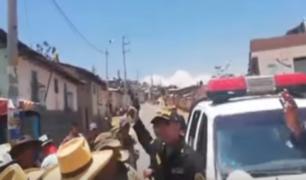 Ayacucho: acción de policía casi desata batalla campal en protesta