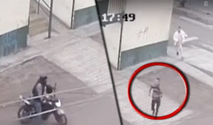 Chimbote: cámara capta robo de celular a trabajadora del Poder Judicial