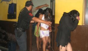 Rescatan a 12 mujeres peruanas y extranjeras que eran explotadas sexualmente