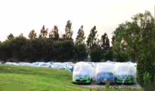 Surco: decenas de vehículos de Serenazgo inoperativos desde hace seis meses en un parque