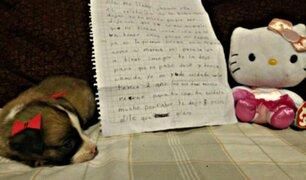 La emotiva carta de niña obligada a abandonar a su perrita