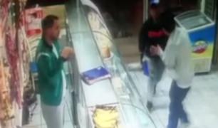 SMP: cámaras registraron asalto a panadería