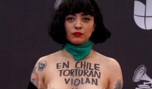 """Carabineros de Chile anuncian """"acciones penales"""" contra Mon Laferte"""