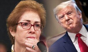 Donald Trump ataca a exembajadora de EEUU en Ucrania en el proceso de juicio político