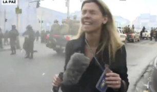 Bolivia: agente policial lanzó gas lacrimógeno en los ojos a periodista argentina