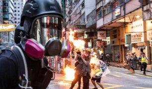 Sucedió en el 2019: violentas protestas se vivieron en Cataluña y Hong Kong