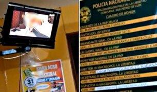 Pacasmayo: policías fueron captados viendo pornografía dentro de comisaría