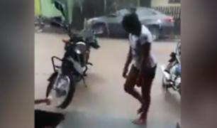 Pucallpa: rayo casi impacta a niños que jugaban frente a su casa