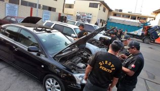 Policía Nacional recuperó 103 vehículos robados en los últimos siete días