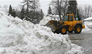 Fuerte temporal de nieve y lluvia golpeó Austria