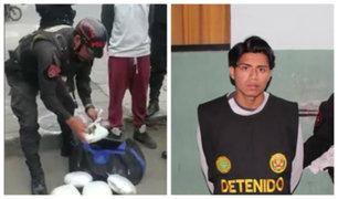 La Victoria: sujeto trasportaba más de 4 kilos de droga en maletín deportivo