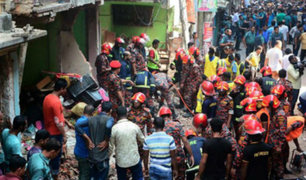 Bangladesh: siete personas murieron por explosión de gas en edificio residencial