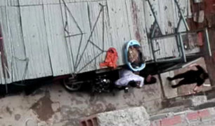 Huancayo: mujer brutalmente golpeada por su pareja es rescatada por vecinos