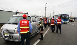 ATU: más de 150 vehículos fueron intervenidos en operativo contra informalidad