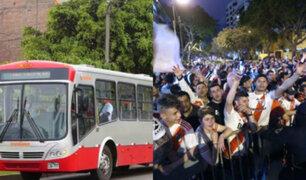 Copa Libertadores: corredor rojo y Metropolitano llevarán a hinchas al Monumental