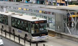 Metropolitano suspende temporalmente servicio por paro de colectiveros