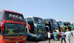 Preparan protocolo de salubridad para el transporte interprovincial de pasajeros
