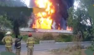 México: se registró incendio en oleoducto de Pemex en el estado de Hidalgo